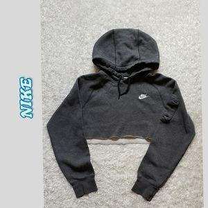 Nike cropped & hooded sweatshirt